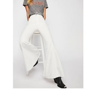 Free people just float on flares white denim